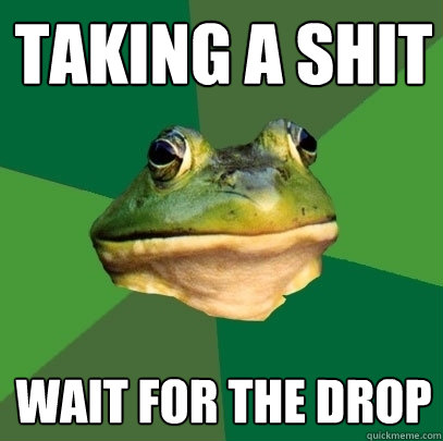 Taking a shit Wait for the drop - Taking a shit Wait for the drop  Foul Bachelor Frog