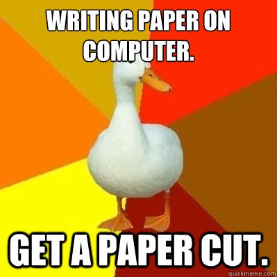 Getting a paper written