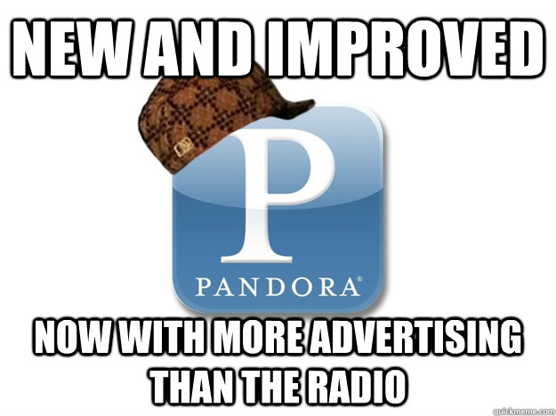New and improved Now with more advertising than the radio - New and improved Now with more advertising than the radio  Misc