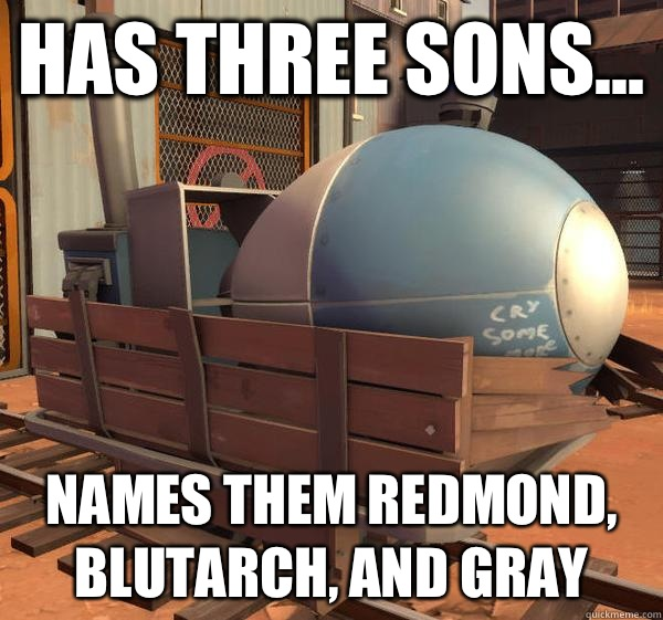 Names Them Redmond Blutarch And Gray