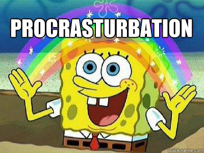 procrasturbation  - procrasturbation   rainbow spongebob