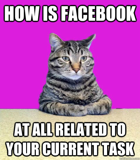 How is facebook at all related to your current task