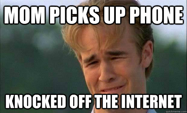 mom picks up phone knocked off the internet  james vanderbeek crying