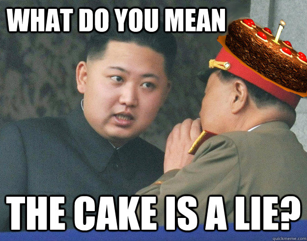 What do you mean the cake is a lie? - What do you mean the cake is a lie?  Misc