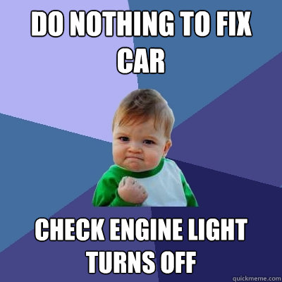engine light on how to fix