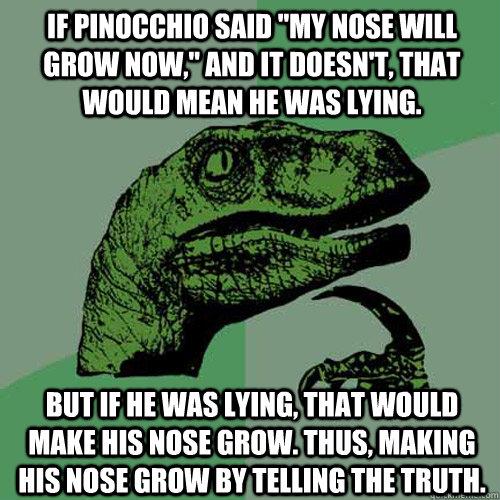 If Pinocchio said