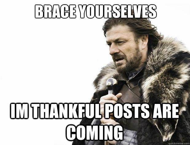 Brace yourselves im thankful posts are coming - Brace yourselves im thankful posts are coming  Misc