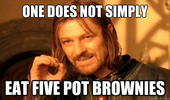 4f8cbf08ce5f04dc0183275e6c494504b282d8e165063bddf8c927bc64ad002a one does not simply eat five pot brownies boromir quickmeme