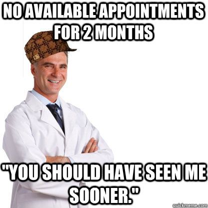 No available appointments for 2 months
