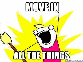 MOVE IN ALL THE THINGS - MOVE IN ALL THE THINGS  All The Things