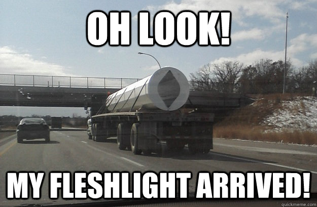 OH LOOK! my fleshlight arrived! - OH LOOK! my fleshlight arrived!  Misc