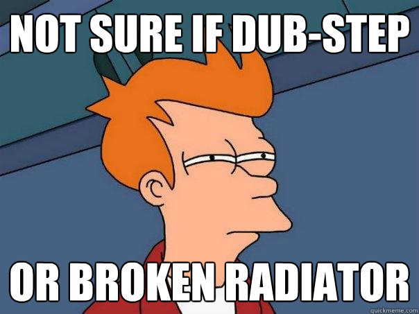 Not sure if dub-step or broken radiator - Not sure if dub-step or broken radiator  Futurama Fry