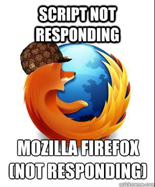 script not responding mozilla firefox (not responding)