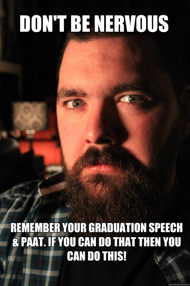 500381b532fba9a4588ffae4919fac967657519095def1ed919ade0390fa83c3 don't be nervous remember your graduation speech & paat if you