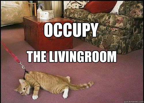 Occupy the livingroom