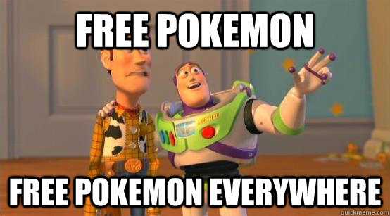 Free pokemon free pokemon everywhere