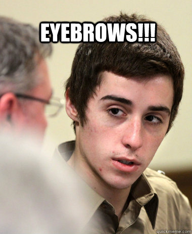 bad eyebrows funny