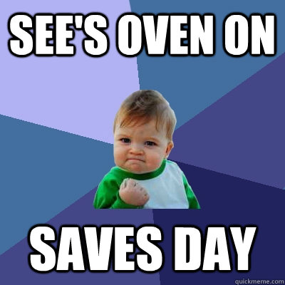 See's Oven on Saves day - See's Oven on Saves day  Success Kid
