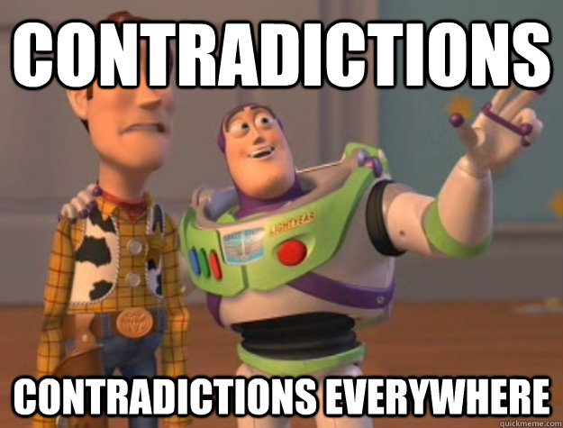Contradictions Contradictions everywhere - Contradictions Contradictions everywhere  Buzz Lightyear