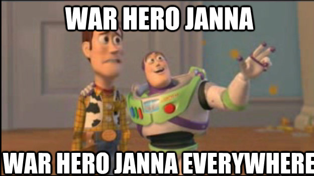 war hero janna war hero janna everywhere - war hero janna war hero janna everywhere  Buzz and Woody