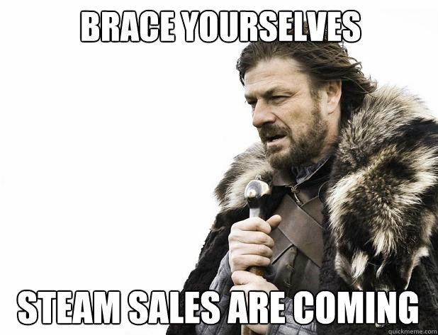 Brace yourselves Steam Sales are coming - Brace yourselves Steam Sales are coming  Misc