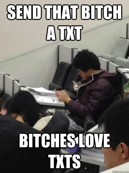 SEND THAT BITCH A TXT BITCHES LOVE TXTS - SEND THAT BITCH A TXT BITCHES LOVE TXTS  LectureCat