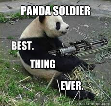 panda soldier best. thing ever.