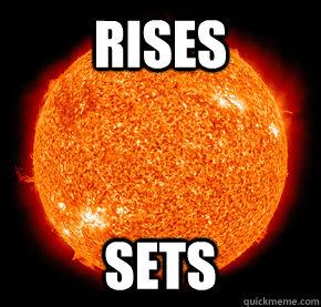 Rises sets