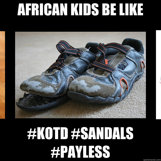 AFRICAN KIDS BE LIKE #KOTD #SANDALS #PAYLESS  African