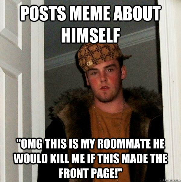 Posts meme about himself
