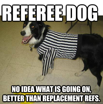 REFeree dog No Idea what is going on, better than replacement refs. - REFeree dog No Idea what is going on, better than replacement refs.  Misc