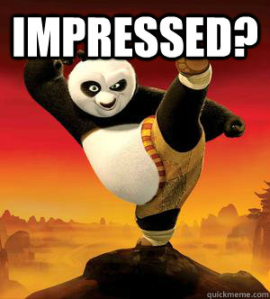 impressed?   Kung Fu Panda Challenge Accepted