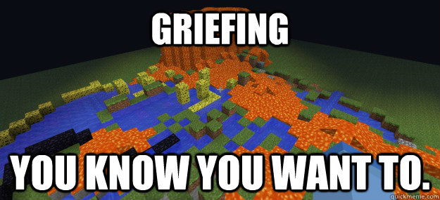 GRIEFING You know you want to.