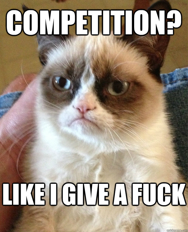competition? like i give a fuck - competition? like i give a fuck  Grumpy Cat