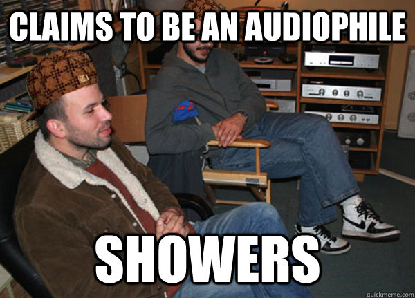 Claims to be an Audiophile Showers