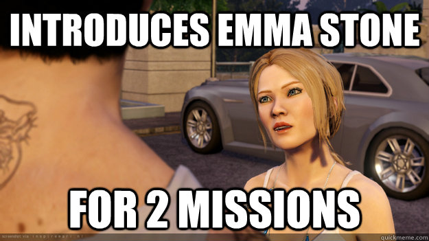 introduces Emma Stone for 2 missions - introduces Emma Stone for 2 missions  Amanda Meme