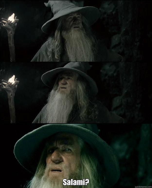 Salami?  Gandalf und das Spanischstudium