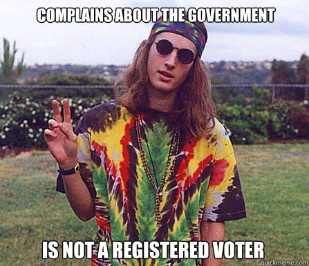 Complains about the government Is not a registered voter