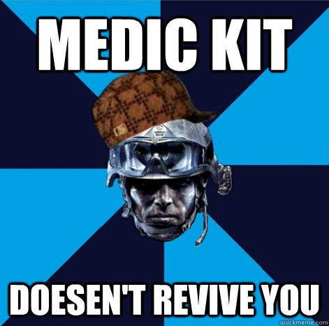 Medic kit Doesen't revive you