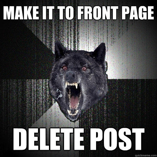 make it to front page delete post