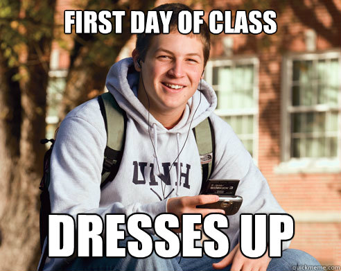 first day of class dresses up - first day of class dresses up  College Freshman
