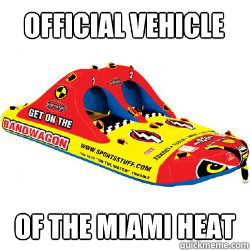 Official Vehicle Of the Miami Heat