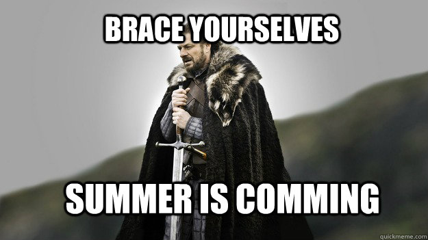 Brace yourselves summer is comming - Brace yourselves summer is comming  Ned stark winter is coming