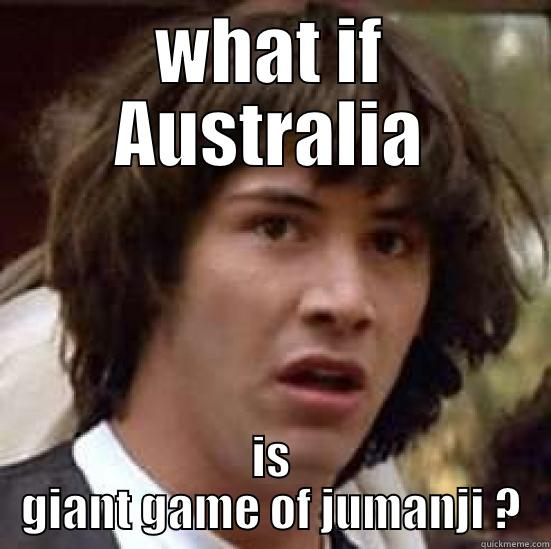 Australia Jumanji  - WHAT IF AUSTRALIA IS GIANT GAME OF JUMANJI ? conspiracy keanu