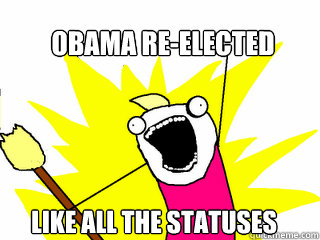 obama re-elected like all the statuses - obama re-elected like all the statuses  All The Things