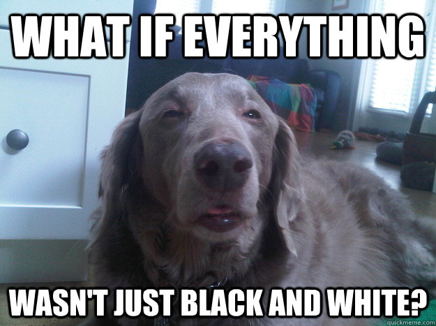 What if everything wasn't just black and white? - What if everything wasn't just black and white?  10 Dog