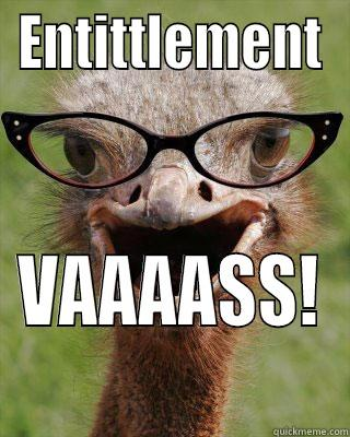 ENTITTLEMENT VAAAASS! Judgmental Bookseller Ostrich