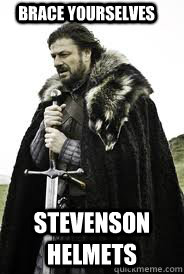 Brace Yourselves Stevenson Helmets - Brace Yourselves Stevenson Helmets  Brace Yourselves
