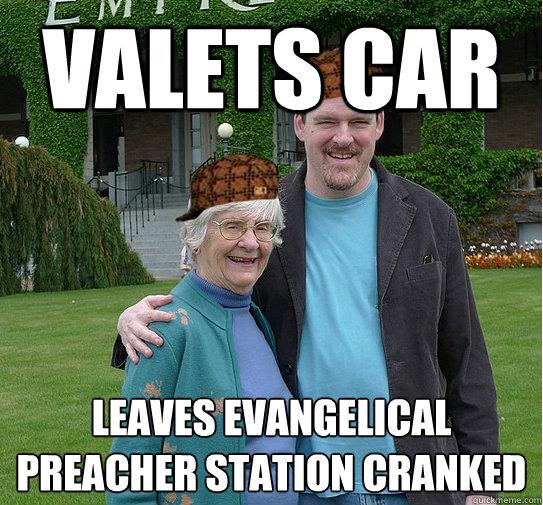 valets car leaves evangelical preacher station cranked