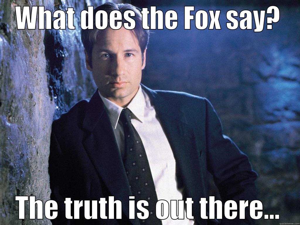 What does Fox Mulder say? - WHAT DOES THE FOX SAY? THE TRUTH IS OUT THERE... Misc